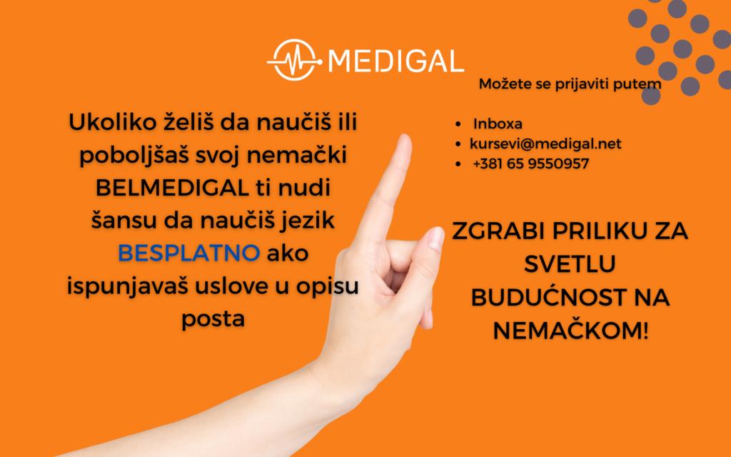 Prijavi se za besplatan kurs jezika uz MEDIGAL